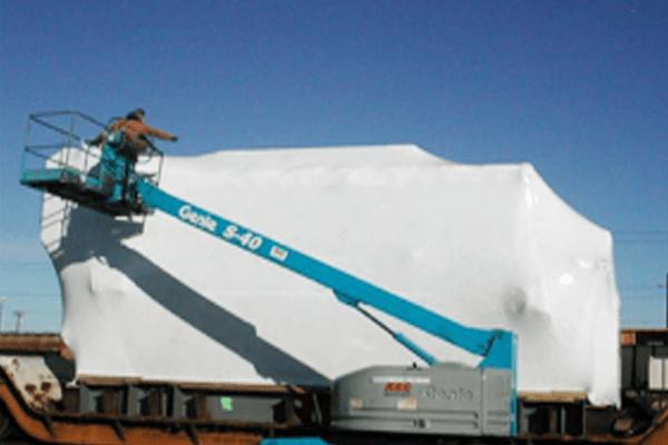 屋外大型製品保管